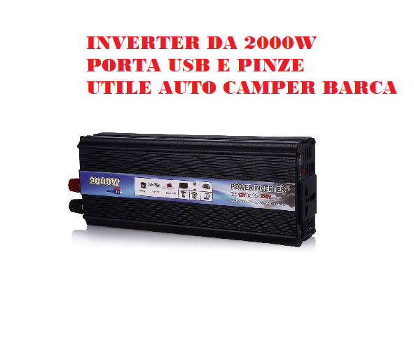 POWER-INVERTER-DA-1000W-12V/220V-AUTO-CAMPER