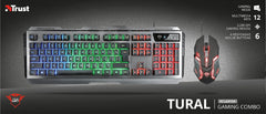 Trust GXT 845 Tural Gaming Combo Tastiera e Mouse Usb Qwerty Italiano Nero