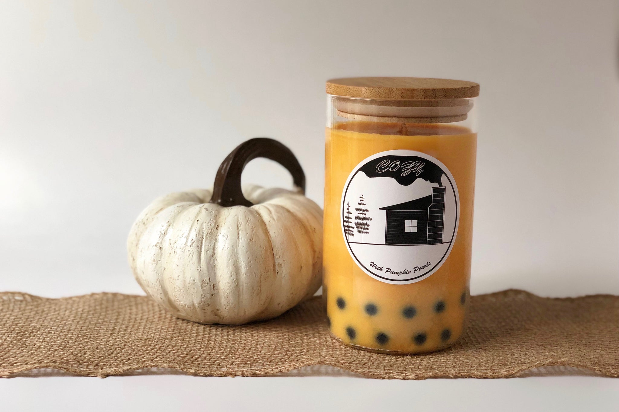 Cozy Boba Candle