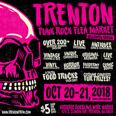Catch Our Pinback Buttons at the Trenton Punk Rock Flea Market