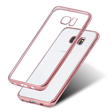 Rose Gold Ultra Thin Anti-shock Electroplate TPU Back Case Cover For Samsung Galaxy S7 Edge SM-G935 - Visibee