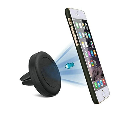 Black Car Mount Magic Grip Mobile Phone Cradle Air Vent Magnetic - Visibee