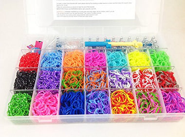 4200 Rainbow Rubber Loom Bands Box Set Kit - Visibee