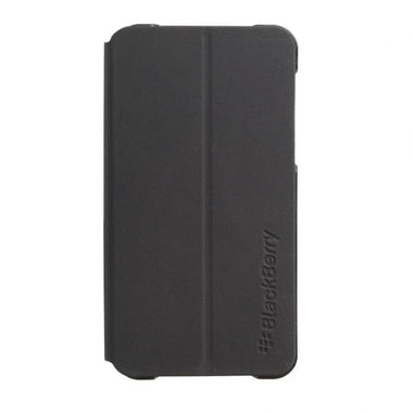 Genuine BlackBerry Z10 Leather Smartphone Flip Case Black - Visibee