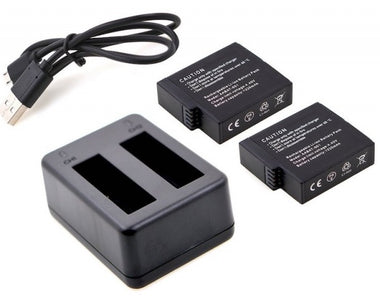 2-Channel Charger and 2 Pack Batteries for GoPro Hero 4 - Visibee