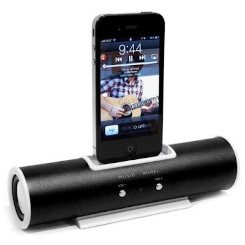 Portable Docking Tube Speaker For Apple iPhone 4/4s iPod Touch - Visibee