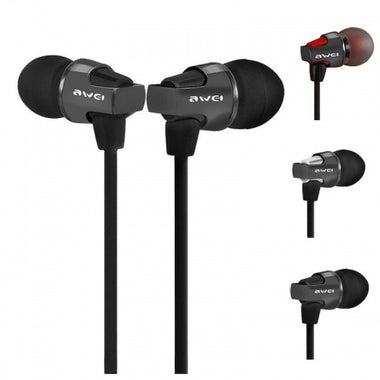 Awei ES-860Hi In-ear Super Bass Headphones with Mic - Visibee