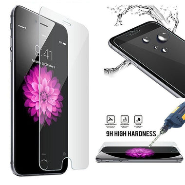 Tempered Glass Film Screen Protector For Apple iPhone 7 - Pack of 2 - Visibee