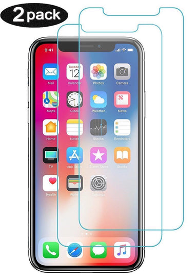 Tempered Glass Screen Protector for Apple iPhone X / 10 - 2 Pack - Visibee