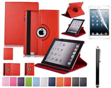High Quality Apple iPad 2 3 & 4 Leather 360° Rotation Smart Stand Hard Cover - Visibee