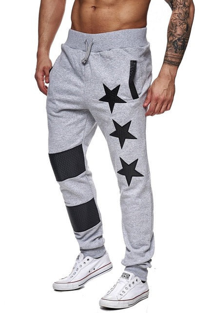 2018 Autumn Mens Sportswear Star Printed Joggers