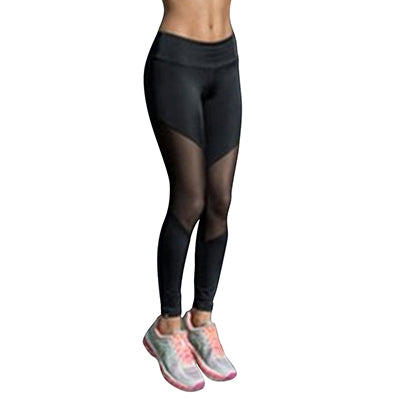 Women Sport Leggings Fitness Yoga Pants in Black and White