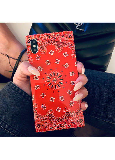 Red Bandana Square iPhone Case #iPhone XR