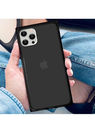 Black Clear Square Phone Case #iPhone 12 Pro Max