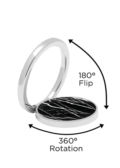 Black Marble Phone Ring - Shop/Phone Rings - iDecoz