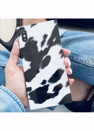 Cow Square iPhone Case #iPhone X / iPhone XS