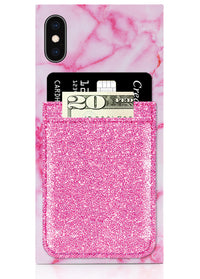 Pink Glitter Phone Pocket