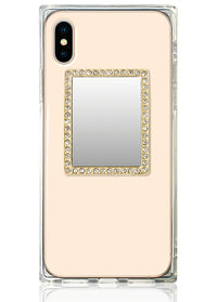 Gold Rectangle w/ Crystals Phone Mirror