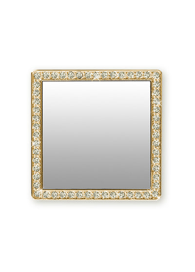 Gold Square w/ Crystals Phone Mirror - Shop/Phone Mirrors - iDecoz