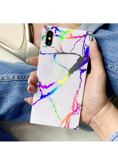 Holo Marble Square iPhone Case #iPhone 7 Plus / iPhone 8 Plus