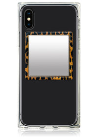 Leopard Square Phone Mirror