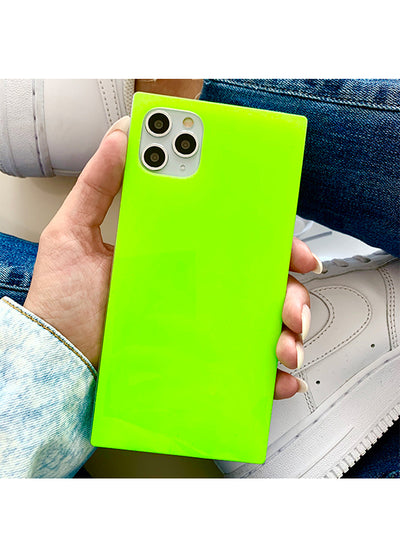 Neon Green Square iPhone Case #iPhone 12 / iPhone 12 Pro