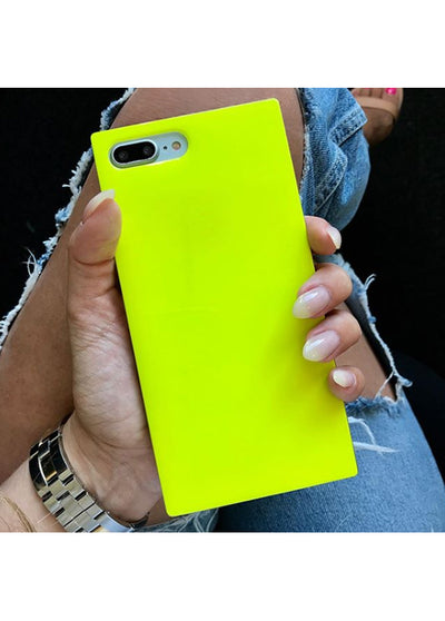 Neon Yellow Square iPhone Case #iPhone 7 Plus / iPhone 8 Plus
