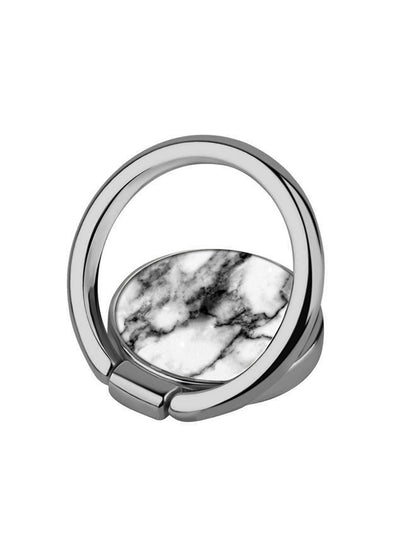 White Marble Phone Ring - Shop/Phone Rings - iDecoz
