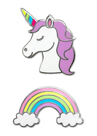 Unicorn & Rainbow Face Mask Charms