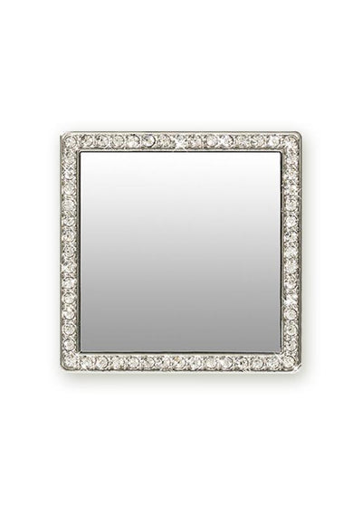 Silver Square w/ Crystals Phone Mirror - Shop/Phone Mirrors - iDecoz