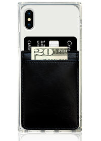 Black Leather Phone Pocket