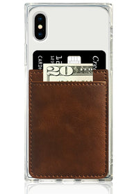 Brown Leather Phone Pocket
