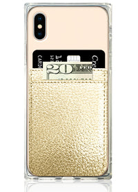 Gold Leather Phone Pocket