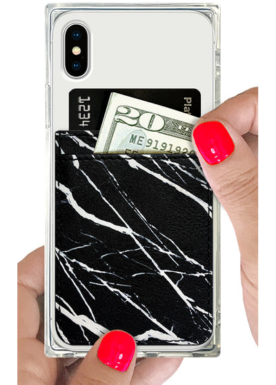 Black Marble Phone Pocket