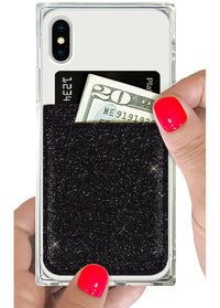 Black Glitter Phone Pocket - Shop/Phone Pockets - iDecoz