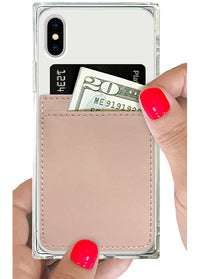 Nude Leather Phone Pocket