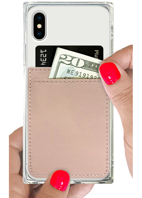 Nude Leather Phone Pocket - Shop/Phone Pockets - iDecoz
