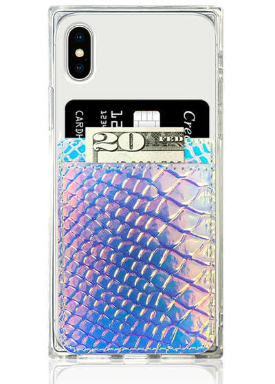Hologram Snakeskin Leather Phone Pocket