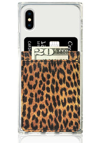 Leopard Leather Phone Pocket