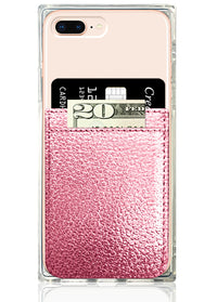Rose Gold Leather Phone Pocket