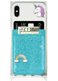 Turquoise Glitter Phone Pocket