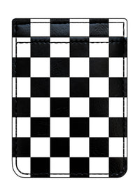 Checkered Leather Phone Pocket - Shop/Phone Pockets - iDecoz