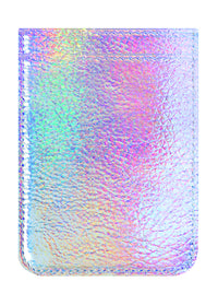 Iridescent Leather Phone Pocket