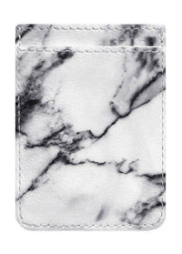 White Marble Phone Pocket - Shop/Phone Pockets - iDecoz