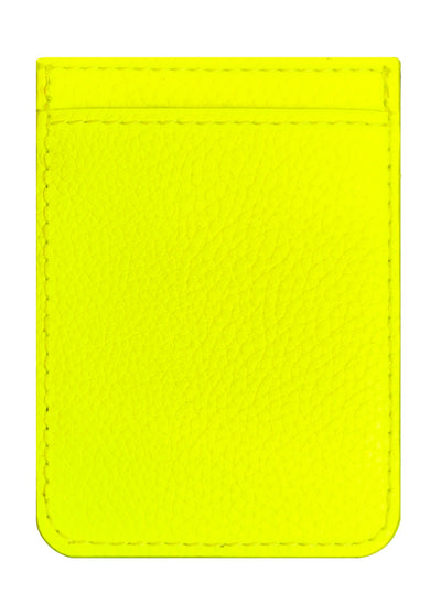 Neon Yellow Leather Phone Pocket