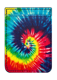 Tie Dye Leather Phone Pocket