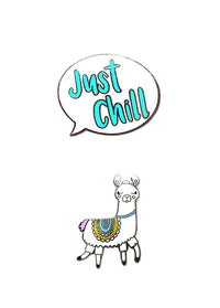 Llama & Just Chill Face Mask Charms