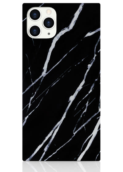Black Marble Square iPhone Case #iPhone 11 Pro