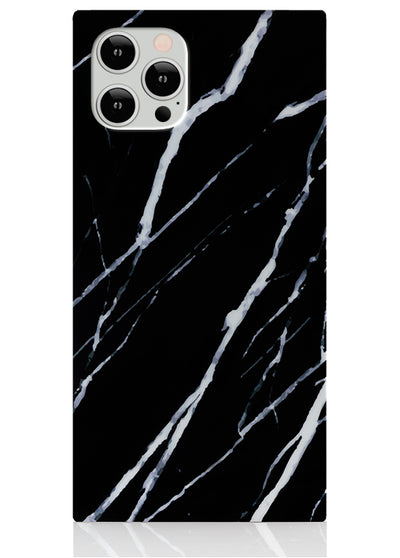 Black Marble Square iPhone Case #iPhone 12 / iPhone 12 Pro