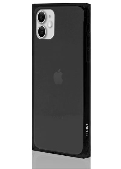 Black Clear Square Phone Case #iPhone 11
